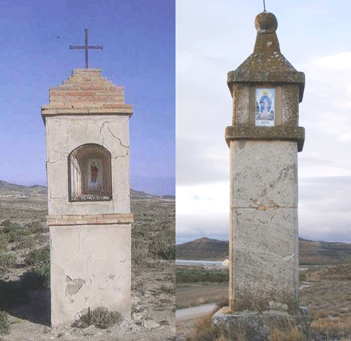 Pilar de Sta. Bárbara (Izda.) - Pilar del Maco (Dcha.)